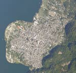 Santiago Town Satellite Photo